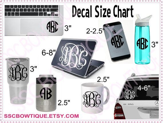 Image Result For Tumbler Decal Size Chart Cricut