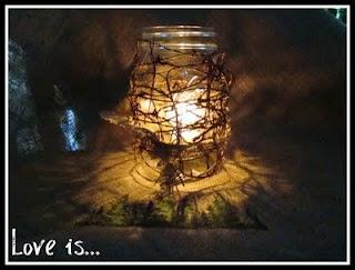 My two favorite things..mason jars and burlap!