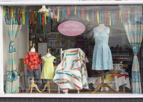 The latest shop window display at The Village Haberdashery in West Hampstead