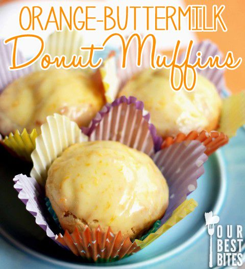 Super quick Orange Donut Muffins from Our Best Bites! Perfect for Easter Morning!