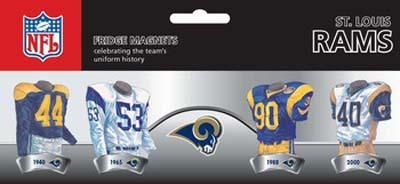 NFL St. Louis Rams 4 Pack Uniform Magnet Set