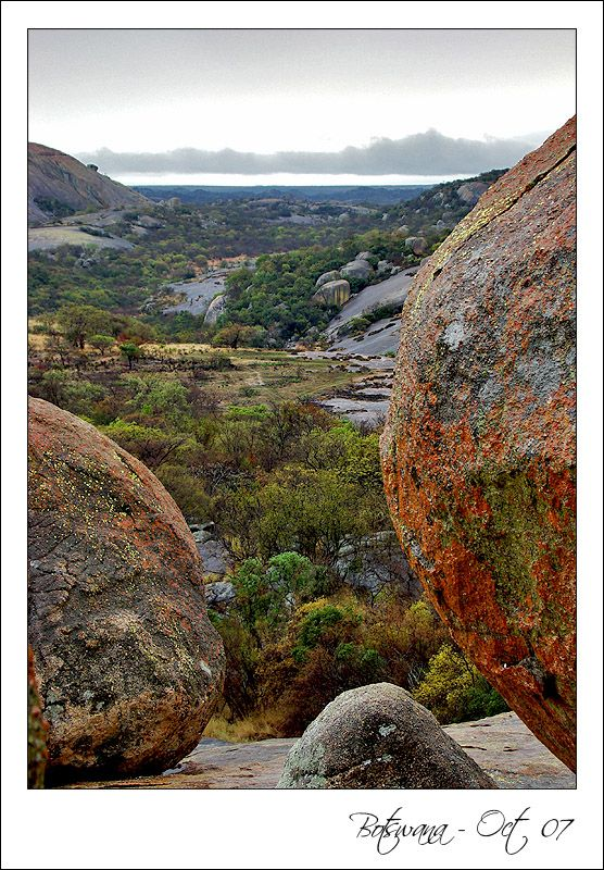 """Matobos National Park is one of the most beautiful places that I have travelled to in Southern Africa. It is the place where Cecil Rhodes demanded to be burried in the granite rock. This picture was taken from his grave site and standing there looking out at the magnificent scenery you can truly understand why Cecil Rhodes names this particular place """"God's View"""""""