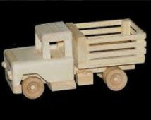 Peuter speelgoed, houten speelgoedauto, handgemaakte speelgoed, houten wielen vrachtwagen, houten wielen vrachtwagen Kids speelgoed, alle natuurlijke speelgoed