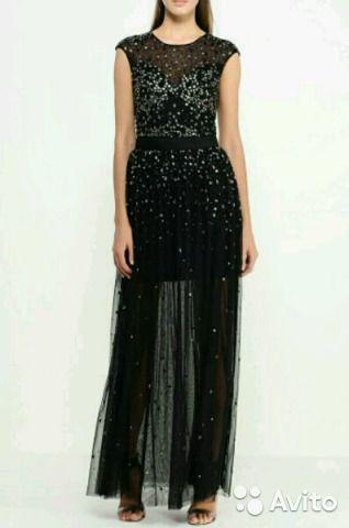 Продам черное платье, расшитое камнями, бисером и пайетками. Размер 44. Может быть, подойдет и на 42 или 46. Ткань полупрозра...