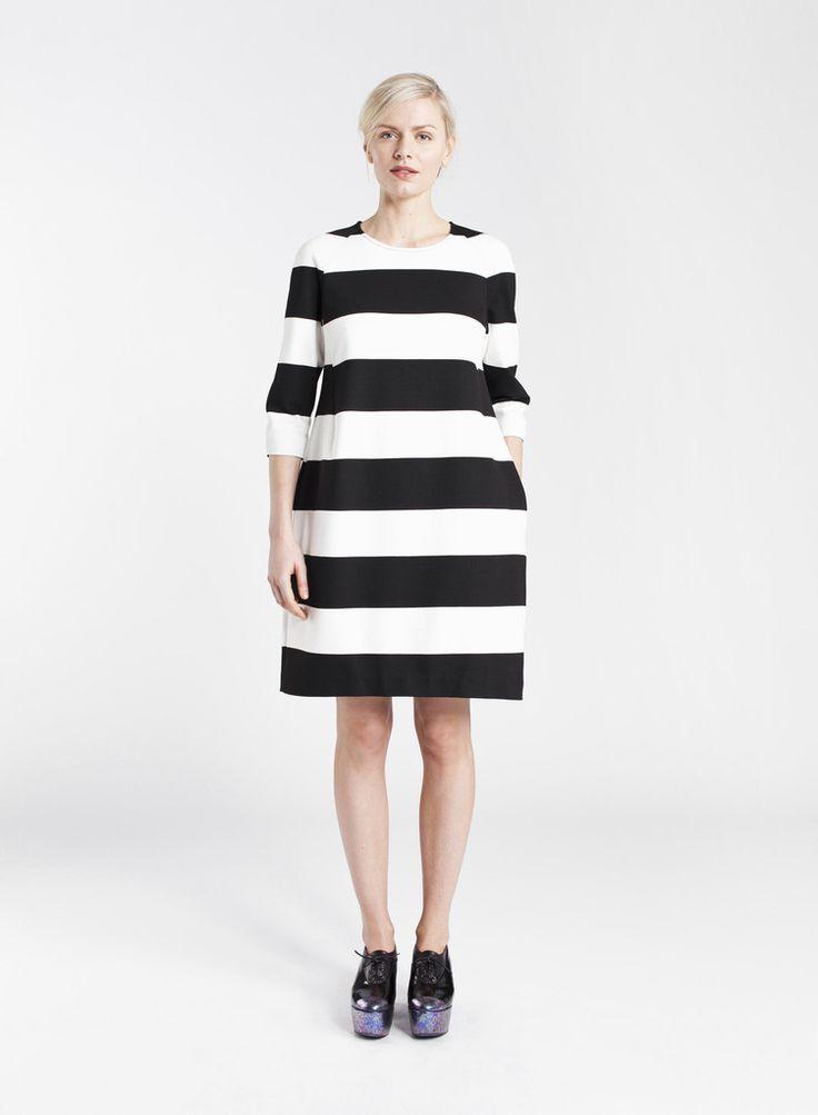 ROSAL MARIMEKKO DRESS BLACK/WHITE