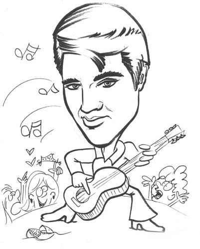 Elvis Coloring Pages