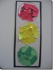 Traffic light using scraps