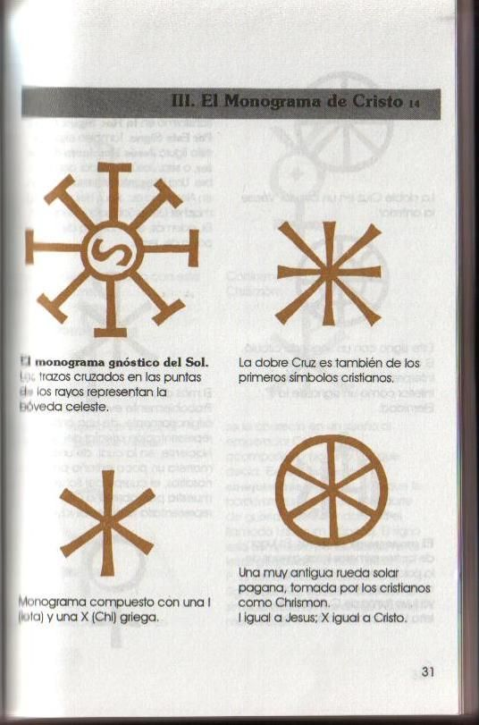 Diferentes representaciones graficas del monograma de Cristo