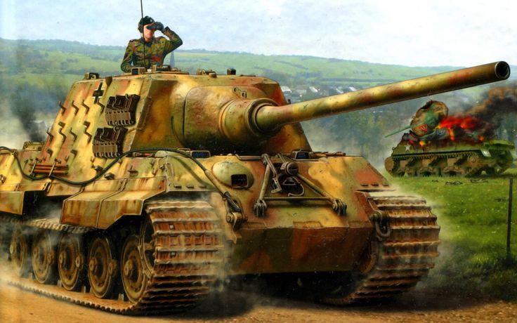 Jagdtiger (German Jagdtiger.), Full legal name Panzerjäger Tiger - German anti-self-propelled artillery (PT - ACS) during World War II, class fighter tanks, heavy weight. ~ BFD