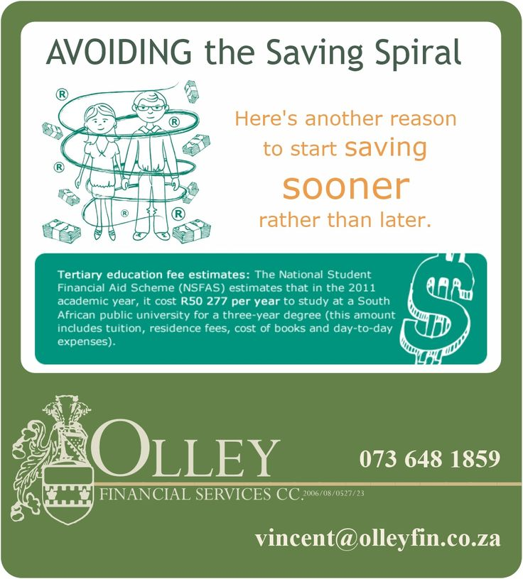 How to avoid the saving spiral.  Contact us for more information on SmartMax investments. celri@olleyfin.co.za