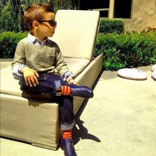 Boy with full attitude