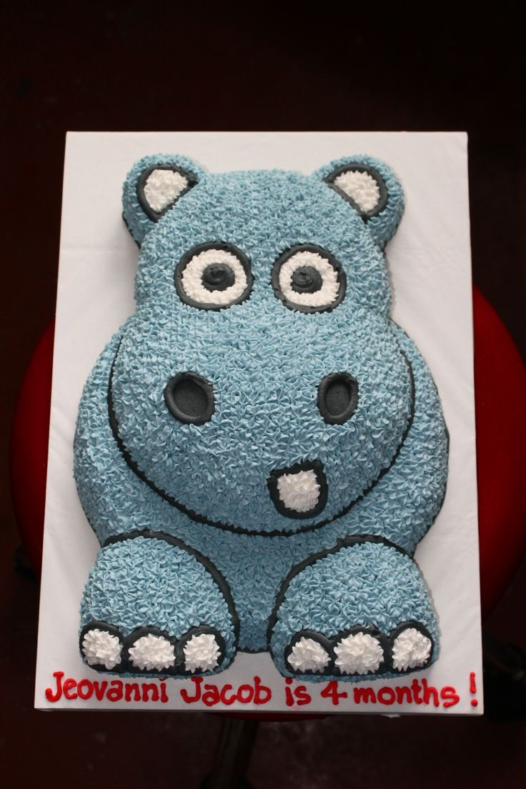 little cartoon hippo cake