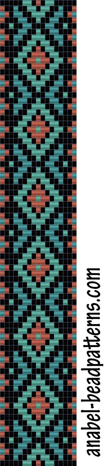 Схема браслета - ткачество - bead loom pattern - bracelet | -Схемы для бисероплетения-