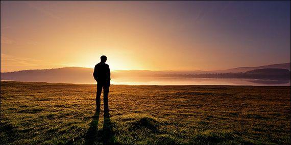 man alone in nature - Google Search
