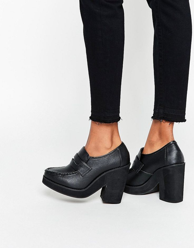 ASOS OCTOPUS Chunky Loafers // y'all so idk if anyone will remember but like f/w 11 Burberry did these loafer-creeper-wedges that looked v similar to these and I adored them; they were the first pair of designer shoes I fell in love w/ and I cannot believe that i have finally found a knock off, praise the heavens and bless the shoe gods