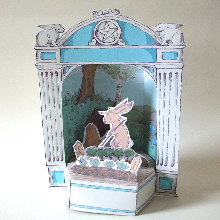 Paper Theatre With Gardening Hare from notonthehighstreet.com