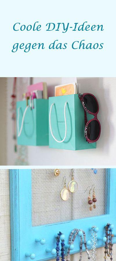 Schluss mit dem Chaos! Mit diesen DIY-Ideen sorgt ihr für Ordnung! http://www.gofeminin.de/wohnen/diy-alltag-organisieren-s1541276.html  #diy #doityourself