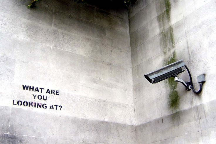 "Banksy's graffiti usually carries a message that is anti-war, anti-capitalist or anti-establishment. ""Your mind is working at its best when you're being paranoid. You explore every avenue and possibility of your situation at high speed with total clarity,"" ~ quote by Banksy"