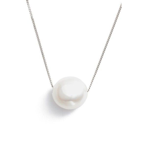 Women's Chan Luu Short Pearl Pendant Necklace (£74) ❤ liked on Polyvore featuring jewelry, necklaces, accessories, white pearl, pearl pendant necklace, curb link necklace, short necklaces, white pearl necklace and chan luu jewelry