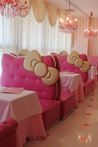 Ein (Alb)Traum in Rosa Willkommen im Hello-Kitty-Restaurant in Peking!
