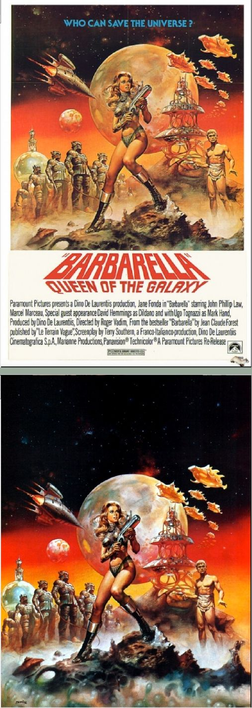 BORIS VALLEJO - Barbarella - Movie Poster - 1968 Paramount Pictures - cover by listal.com - print by Google