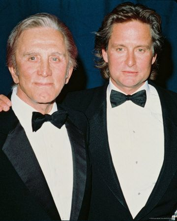 Kirk Douglas & Michael Douglas- Father and son