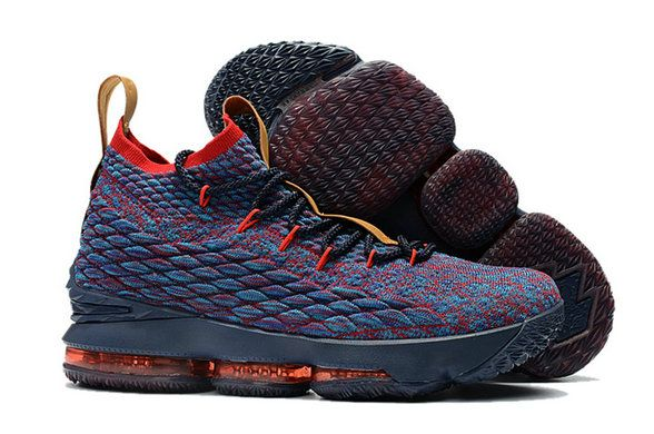 92629c2ac6c 2018 Nike LeBron 15 Mens Original Basketball Shoes Cavs Navy Multi Color