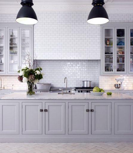 dove grey kitchen