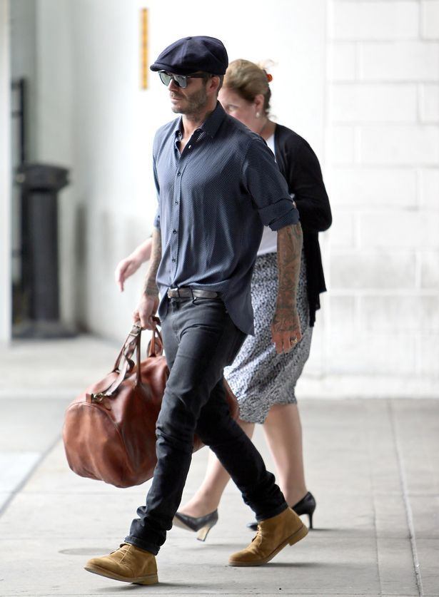 David Beckham touches down at JFK airport