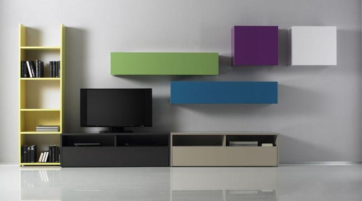 Έπιπλα Σπιτιού - Σύνθεση Τοίχου Linea Color 7