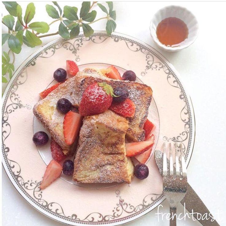 mii's dish photo デニッシュフレンチトースト | http://snapdish.co #SnapDish #ハロウィンたまご祭り♪ #お花見 #食パン #菓子パン #デニッシュ/クロワッサン