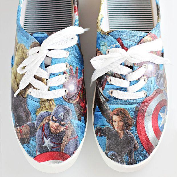 DIY Avengers Superhero Shoes