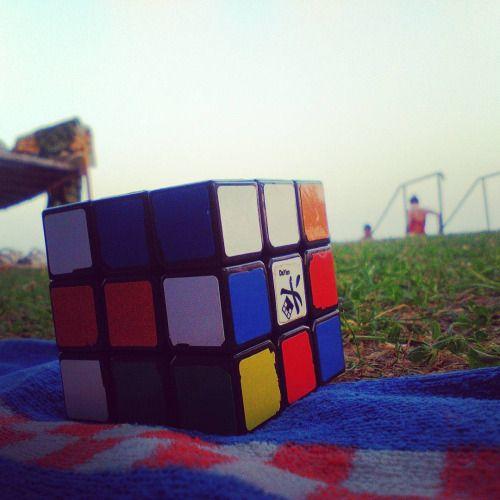 Rubik cube & Lake Balaton