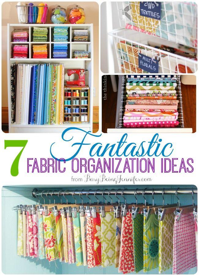 7 Fantastic Fabric Organization and Storage ideas! - BusyBeingJennifer.com
