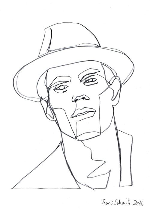 """Famous One Line Drawing Artists : """"gaze ″ continuous line drawing by boris schmitz"""