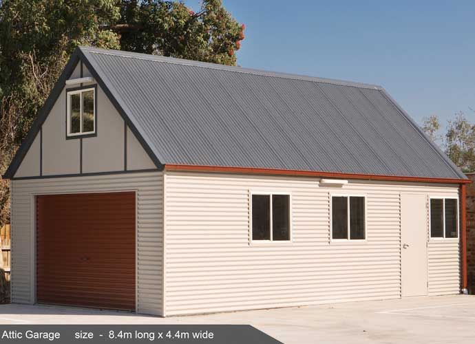 This is the Attic Garage design from Classic Cabins that I had modified into a house