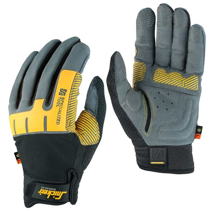 The ultimate tool grip work glove. Supportive cushions at the grip area provides a comfortable and secure tool grip. The cushioned and well ventilated palm together with the elastic zone give extra comfort. A perfect match with Specialized Impact Glove. EN 388.