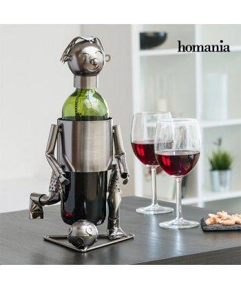 Le porte-bouteilles métallique Footballeur Homania original et unique est parfait pour présenter votre meilleur vin ! Un porte-bouteilles idéal pour décorer et offrir.