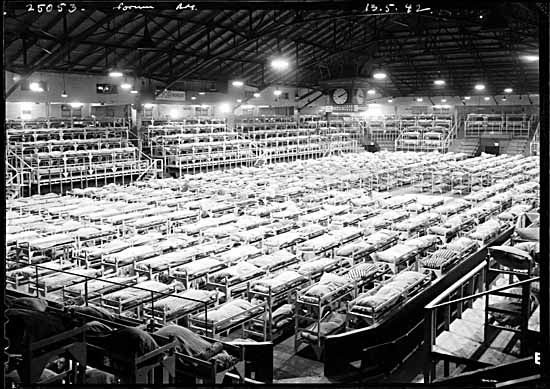 ansel adams photos of internment camps | Building K, Men's Dormitory (formerly Forum), Hastings Park, Vancouver ...
