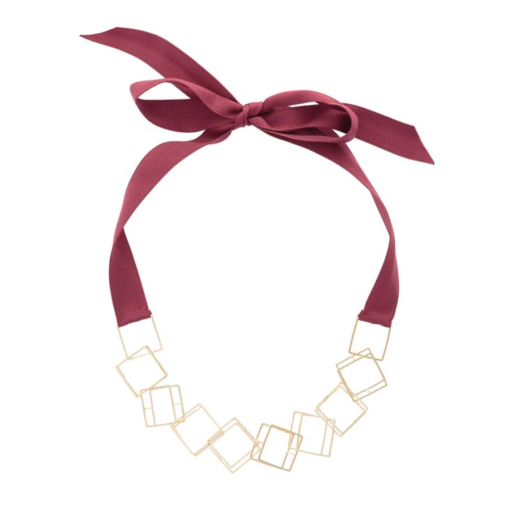 Buy the 3D Squares Ribbon Collar Necklace at Oliver Bonas. Enjoy free worldwide standard delivery for orders over £50.