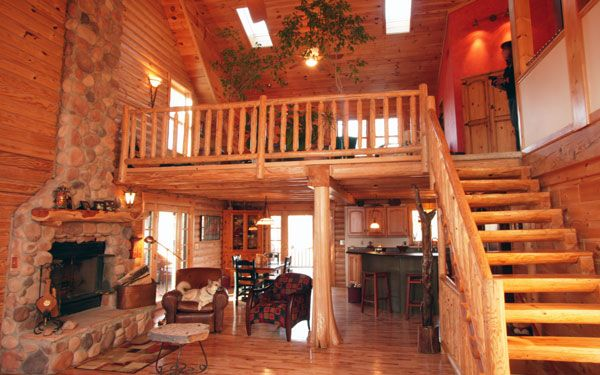 Rays log homes 600 375 pixels interior design for Log cabin floor plans with loft