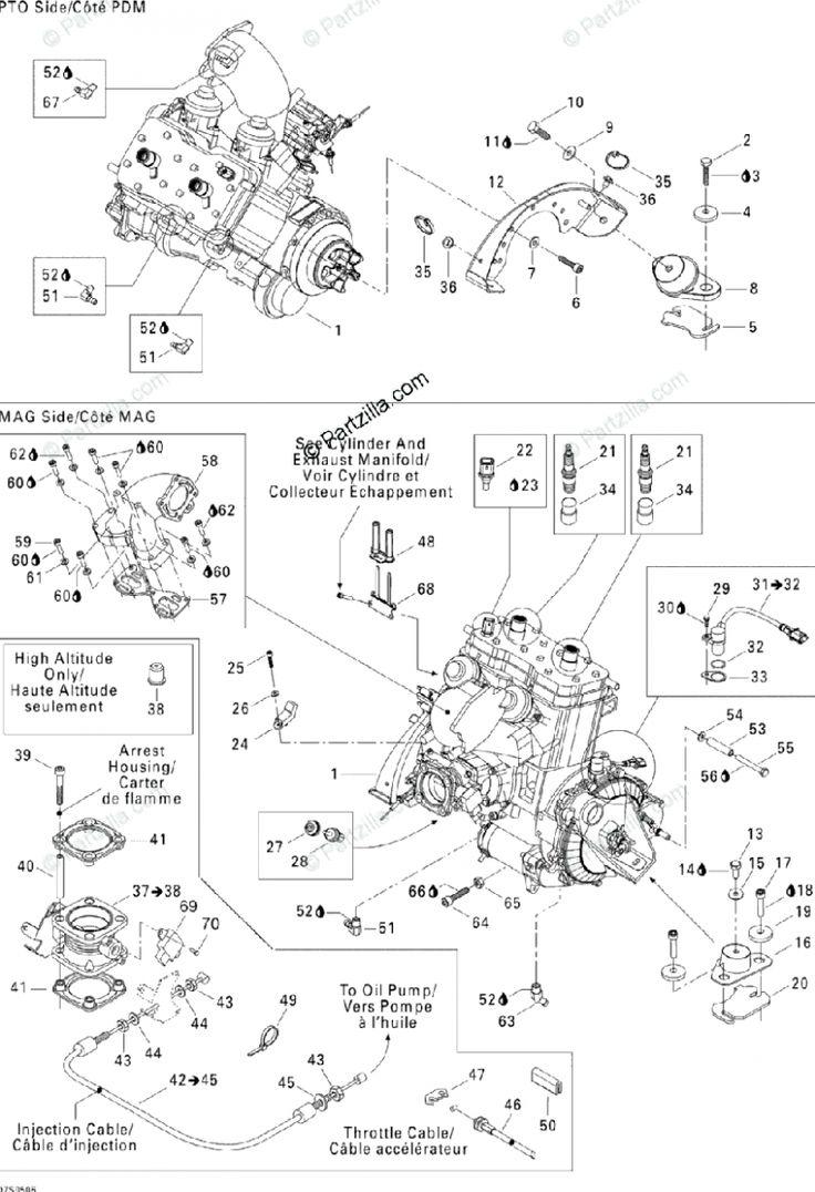 Seadoo 4 Engine Diagram Xl Di 2020  Dengan Gambar