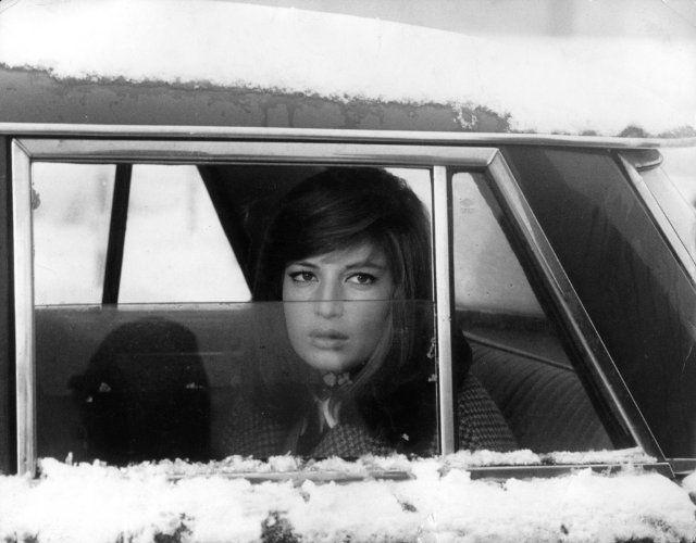 Still of Monica Vitti in Red Desert, 1964. On my to-watch list.