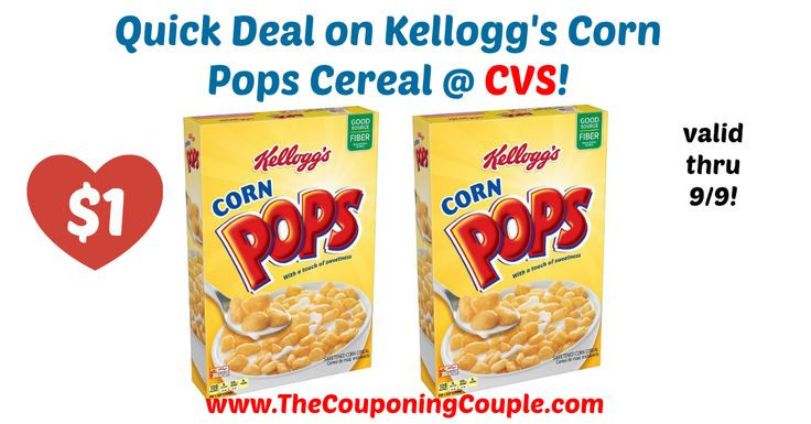 WOW! Awesome price for Kellogg's Cereals! Quick Deal on Kellogg's Corn Pops Cereal @ CVS!  Click the link below to get all of the details ► http://www.thecouponingcouple.com/quick-deal-on-kelloggs-corn-pops-cereal-cvs/ #Coupons #Couponing #CouponCommunity  Visit us at http://www.thecouponingcouple.com for more great posts!