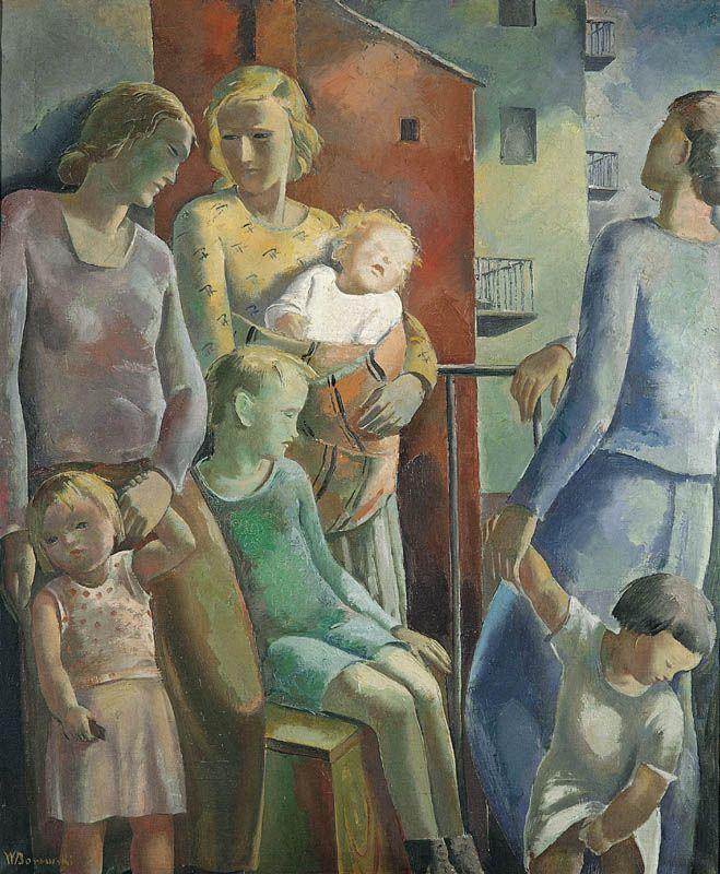 Wacław Borowski | On the Balcony, around 1930 | oil, canvas | 116 x 96 cm.