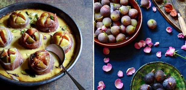 Roasted figs with gorgonzola cream