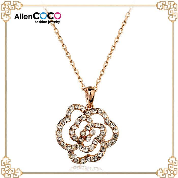 Ювелирные Изделия роза ожерелье конструкции для рождественские украшения