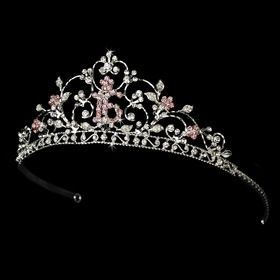 Elegance by Carbonneau HP 466 16 S Pink Shimmering Sweet 16 Pink Rhinestone Tiara in Silver 466 | Pinterest | Sweet 16, Masquerade ball and Prom