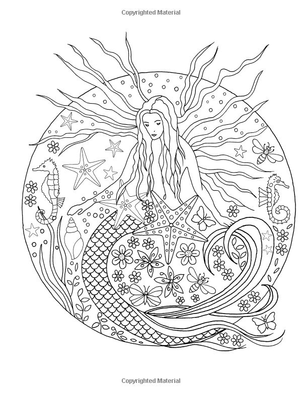 Sea Dream Colouring Book Amazoncouk De Ann Black SheetsAdult