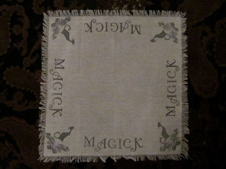 Old Witchery altar Cloth: Magick ~ Spells, Witchery, Altar, Ritual, familiar